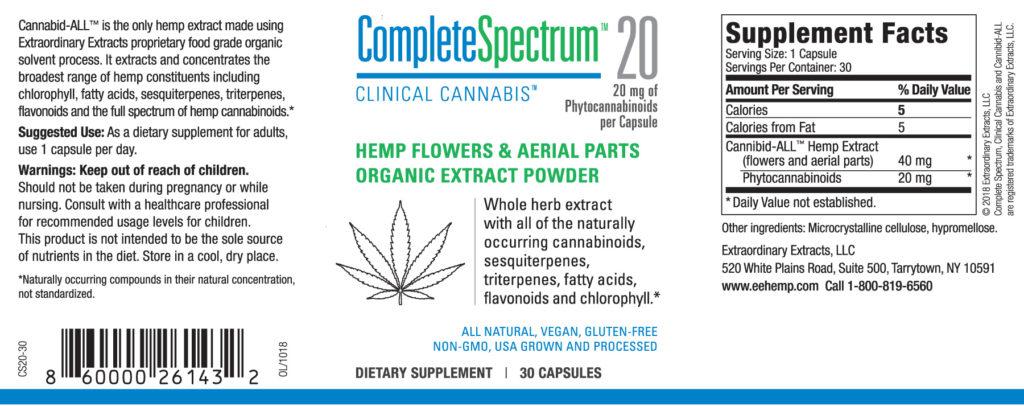Complete Spectrum 20 Label
